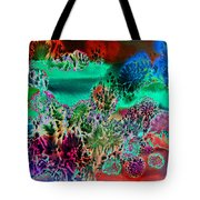 Fire Storm Abstract Tote Bag