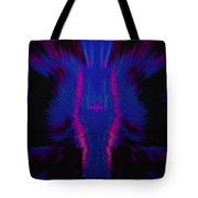 Fire Wolf Abstract Tote Bag