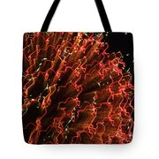 Fireball In The Sky Tote Bag by Karen Wiles