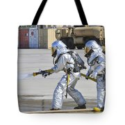 Firefighters Execute Fire Containment Tote Bag