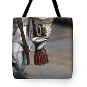 Firefighting Marine Tests His Hand Line Tote Bag
