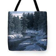 Firehole River In Yellowstone Tote Bag