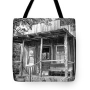 Fireman Cottage B And W Tote Bag by Douglas Barnard