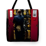 Fireman Stows A Self-contained Tote Bag