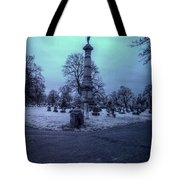 Firemans Monument Infrared Tote Bag