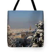 Firenze Under The Snow Tote Bag