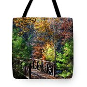 Fire's Creek Bridge Tote Bag