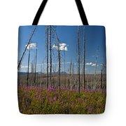 Fireweed  Epilobium Angustifolium Glacier National Park Usa -1 Tote Bag