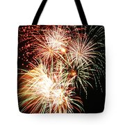 Fireworks 1569 Tote Bag by Michael Peychich