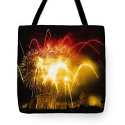 Fireworks At Philadelphia Museum Of Art Tote Bag