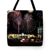 Fireworks Over Firelake Tote Bag