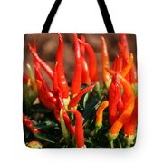 Firey Red Hot Chili Peppers Tote Bag