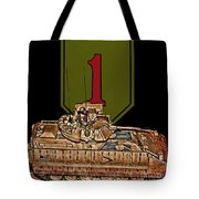 First Infantry Division Bradley Fighting Vehicle Tote Bag