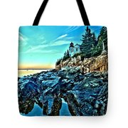 First Light At Bass Harbor Tote Bag