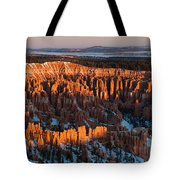 First Light At Bryce Canyon Tote Bag