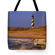 First Light At Cape Hatteras - Fs000257 Tote Bag