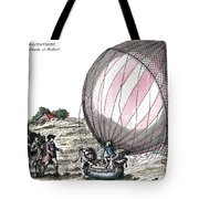 First Manned Hydrogen Balloon Flight Tote Bag