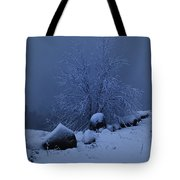 First Snow At First Light Tote Bag