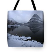 First Snow At Grinnell Tote Bag