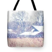First Snow. Village Tote Bag