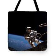 First U.s. Spacewalk Tote Bag