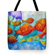 Fish Abstract Painting Tote Bag