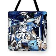 Fish Guernica Tote Bag
