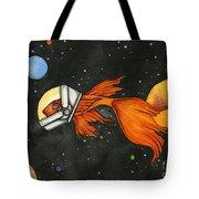 Fish In Space Tote Bag