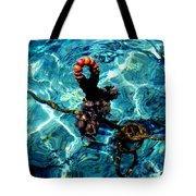 Fish Knot Santorini Greece Tote Bag