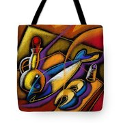 Fish Tote Bag by Leon Zernitsky