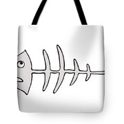Fish Skeleton - Fishbones Tote Bag