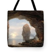 Fisherman In A Grotto Helgoland Tote Bag by Christian Ernst Bernhard Morgenstern