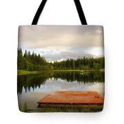 Fishing A Mirror Tote Bag