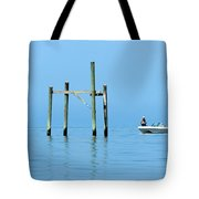 Fishing At The Bird Rack Tote Bag