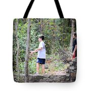 Fishing Beyond The Gristmill Tote Bag