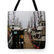 Fishing Boat Walkway Tote Bag