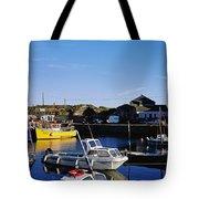 Fishing Boats At A Harbor, Slade Tote Bag