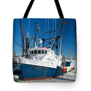 Fishing Boats In Frozen Hyannis Harbor Tote Bag