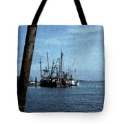 Fishing Boats In Harbor Tote Bag