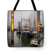 Fishing Boats In Steveston Group Photo Tote Bag