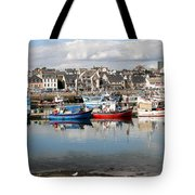 Fishing Boats In The Harbor Tote Bag