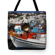 Fishing Boats Mykonos Tote Bag