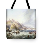 Fishing Boats Off Scotland Tote Bag