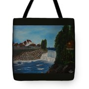 Fishing By The Falls Tote Bag