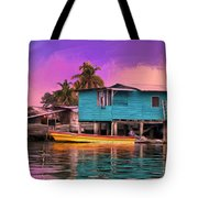 Fishing Camp Twilight Tote Bag