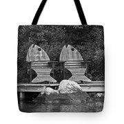 Fishing Chairs Tote Bag