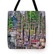 Fishing Docks Hdr Tote Bag