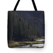 Fishing For Steelhead On The Salmon Tote Bag