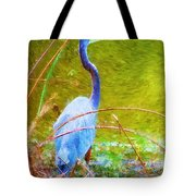 Fishing In The Reeds Tote Bag