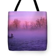 Fishing On The Bow Tote Bag by Bob Christopher